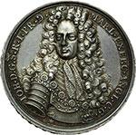 obverse:  Inghilterra  Anna (1702-1714) Medaglia 1706, per la vittoria del Duca di Marlbough su Luigi XIV nelle Fiandre e Brabante.