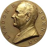 obverse:  USA  Lyndon Johnson (1963-1969) Medaglia 1963 per l elezione a Presidente degli Stati Uniti.