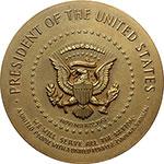 reverse:  USA  Lyndon Johnson (1963-1969) Medaglia 1963 per l elezione a Presidente degli Stati Uniti.