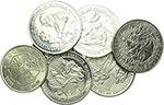 obverse:   Lotto di 12 monete: Gibilterra 8 differenti monete da un crown (Sherlock Holmes), Ghana 5 cedis 1984, Seychelles 10 rupie 1974, Jamaica 5 scellini 1966 e Spagna 100 pesetas 1966.