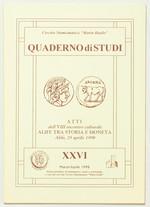 obverse:  AA.VV. Atti dell VIII incontro culturale Alife tra storia e moneta. Alife, 25 aprile 1998.