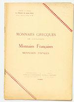 obverse:  BOURGEY, Etienne. Monnaies grecques et gauloises, monnaies françaises, monnaies papales.