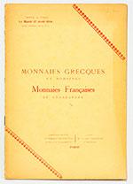 obverse:  BOURGEY, Etienne. Monnaies grecques et romaines, monnaies françaises et étrangères.