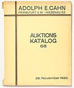 obverse:  CAHN, Adolph E. Auktions Katalog 68. Sammlung Moritz Simon, Berlin und aus anderem Besitz. Römer, Griechen, Byzantiner, Barbaren, Völkerwanderung.