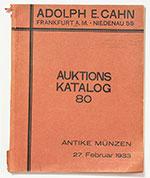 obverse:  CAHN, Adolph E. Auktions Katalog 80. Griechische und Römische Münzen. Numismatische Bibliothek des Freiherrn Hans von Koblitz.