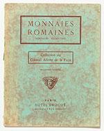 obverse:  FLORANGE, Jules & CIANI, Louis.  Monnaies romaines. Monnaies byzantines. Collection du Colonel Allotte de la Fuÿe. Seconde vente.