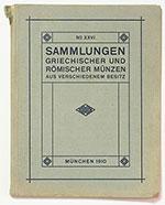 obverse:  HIRSCH, Jacob. Auctions-Catalog XXVI. Griechischer und Römischer Münzen.