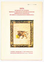 obverse:  SEMENZATO, Franco. Asta di monete di Venezia, monte e medaglie antiche ed estere, importante raccolta di libri e cataloghi di numismatica.