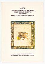 obverse:  SEMENZATO, Franco. Asta di oselle in oro e argento di Venezia e Murano, medaglie, monete consolare romane.