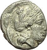 obverse:  Campania, Hyria o Nola   Didracma, 405-403 a.C.