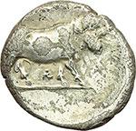 reverse:  Campania, Hyria o Nola   Didracma, 405-403 a.C.