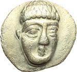 obverse:  Campania, Phistelia   Obolo, ca. 325-275 a.C.