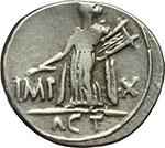 reverse:  Augusto (27 a.C.-14 d.C.). Denario, Lugdunum.