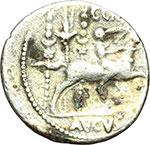 reverse:     Augusto (27 a.C - 14 d.C). Denario. Lugdunum, ca. 29-27 d.C. ?