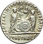 reverse:  Augusto (27 a.C - 14 d.C). Denario, 2 a.C.-14 d.C.