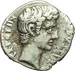 obverse:     Augusto (27 a.C - 14 d.C). Denario. Zecca incerta, imitazione balcanica? ca. 29-27 d.C. ?