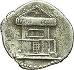 reverse:     Augusto (27 a.C - 14 d.C). Denario. Zecca incerta, imitazione balcanica? ca. 29-27 d.C. ?