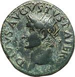 obverse:  Augusto (27 a.C - 14 d.C). Asse.