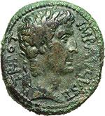 obverse:  Augusto (27 a.C - 14 d.C). AE 28mm. Antiochia, 4-5.
