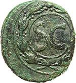 reverse:  Augusto (27 a.C - 14 d.C). AE 28mm. Antiochia, 4-5.