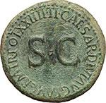 reverse:     Livia, moglie di Augusto (deceduta nel 29 d.C.). Dupondio, ca. 21-22.