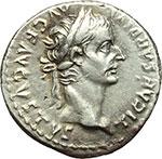 obverse:  Tiberio (14-37 d.C.) Denario, Lugdunum ca. 14-37.