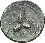 reverse:  Apulia, Arpi   Triobolo, 215-212 a.C.
