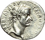 obverse:  Tiberio (14-37). Denario, Lugdunum.