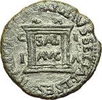 reverse:  Tiberio (14-37). AE 28mm. Ilici, Hispania.
