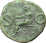 reverse:  Caligola (37-41). Asse, 40-41.