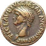 obverse:  Claudio (41-54). Asse.