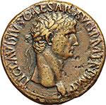 obverse:  Claudio (41-54). Sesterzio.