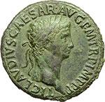 obverse:  Claudio (41-54). Sesterzio, ca. 50-54.
