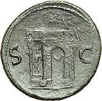 reverse:  Nerone (54-68). Sesterzio.
