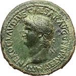obverse:  Nerone (54-68). Sesterzio.
