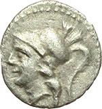 obverse:  Apulia, Arpi   Obolo, ca. 215-212 a.C.