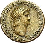 obverse:  Nerone (54-68). Asse.