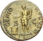 reverse:  Nerone (54-68). Asse.
