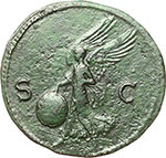 reverse:  Nerone (54-68). Asse, Lugdunum.