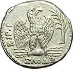 reverse:  Nerone (54-68). Tetradracma, 63 d.C. Syria, Antiochia ad Orontem.