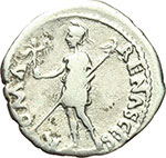 reverse:  Galba (68-69). Denario.