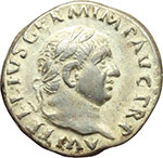 obverse:  Vitellio (69 d.C.). Denario.