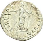 reverse:  Vitellio (69 d.C.). Denario.