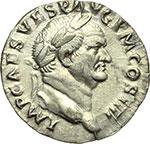 obverse:  Vespasiano (69-79). Denario, ca. 72-73.