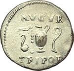 reverse:  Vespasiano (69-79). Denario, ca. 72-73.