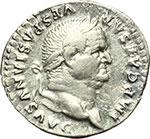 obverse:  Vespasiano (69-79). Denario, ca. 75 d.C.