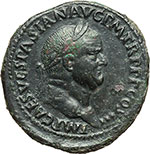 obverse:  Vespasiano (69-79). Sesterzio, ca. 71 d.C.