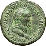 obverse:  Vespasiano (69-79). Sesterzio, 71 d.C.