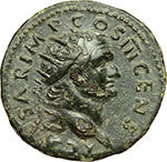 obverse:  Tito Cesare (69-79). Dupondio, 74 d.C.