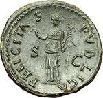 reverse:  Tito Cesare (69-79). Dupondio, 74 d.C.